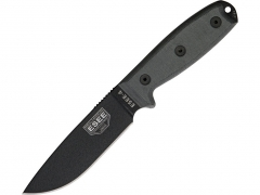 Nóż ESEE 4 Black Plain Blade z pochwą Coyote Brown