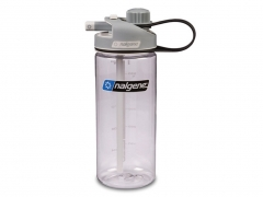 Butelka Nalgene MultiDrink Clear Gray Cap Tritan 600 ml