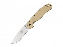 Nóż Ontario RAT 1 Folder Silver - Desert Tan Handle 8848DT