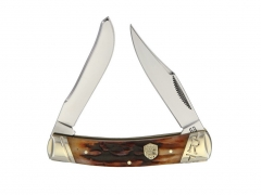 Scyzoryk Rough Rider Brown Stag Bone Small Moose RR1795